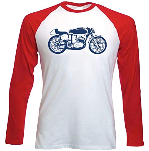 Teesandengines Bultaco TSS Camiseta de Mangas roja largas t-Shirt Size Large