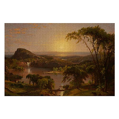 BLESFEST Jasper Francis Cropsey Summer Lake Ontario 500 Piece Jigsaw Puzzle for Kids Adults, Jigsaw Puzzles Game Gift for Boys Girls Children Learning Educational Puzzles Toys 15 x 20 inches