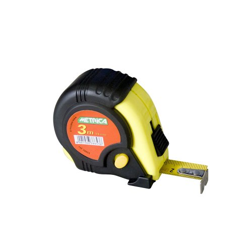 Metrica, 38653, Tape Measure 3m guaina del cavo 3 Freins
