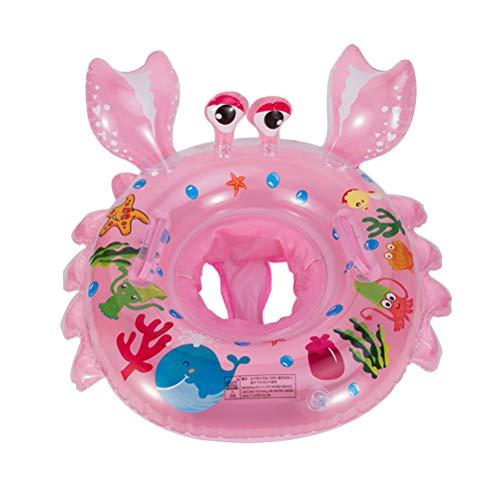 LIOOBO Baby Schwimmring Aufblasbar Schwimmsitz Krabben Form Pool Wasserspielzeug Sommer Spaß für Kinder Baby (Rosa)