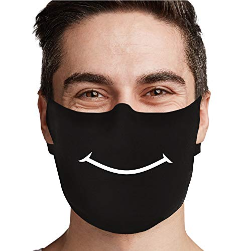 Smile - 3 Pack | Design Basic Cloth Face Mask | Washable and Reusable Face Covering