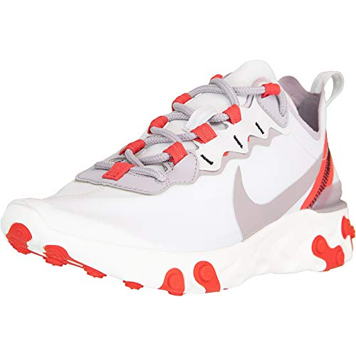 Nike React Element 55 Women Sneaker (39 EU, Platin/red)