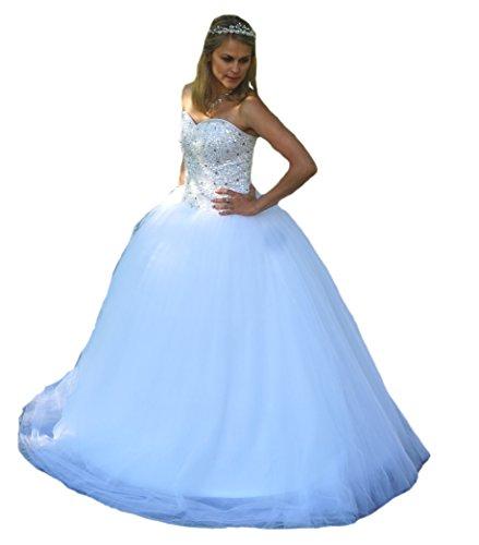 Unbekannt NEU Perlen Brautkleid Traumkleid Hochzeitskleid 36 38 40 42 44 Braut Kleid Hochzeit (40)