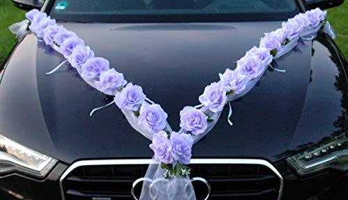 Roses Guirlande Voiture de Mariage Bijoux Rose décoration dé