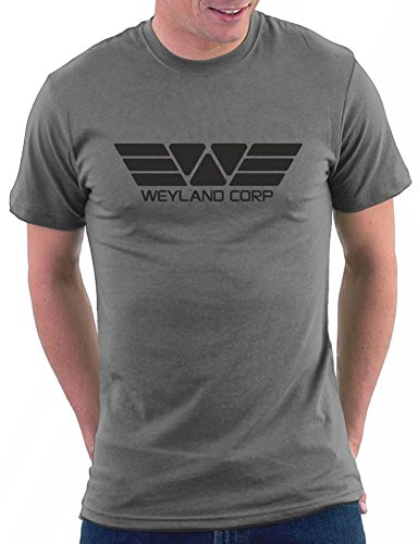 Million Nation Weyland Corp T-shirt, Größe L, Darkgrey