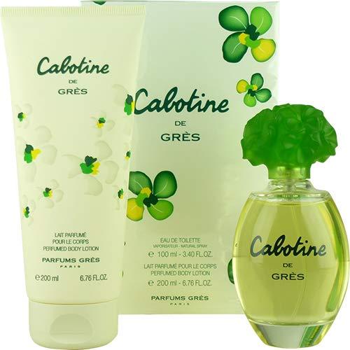 Cabotine by Gres for Women – 2 pc Gift Set 3.4oz EDT Spray, 6.76oz Body Lotion