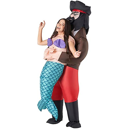 Morph Costumes Adult Inflatable Pirate Costume Pick Me Up Inflatable Mermaid Costume...