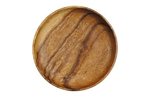エメリー商会 木製食器 皿 アカシア ラウンドプレート SW-E028