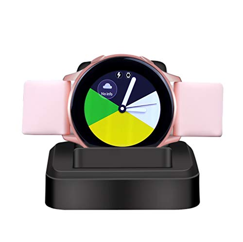 Replacement Charger for Samsung Galaxy Watch Active and Active 2,Wireleess Charger Dock Charging Stand Compatible with Samsung Galaxy Watch Active and Active 2,Black
