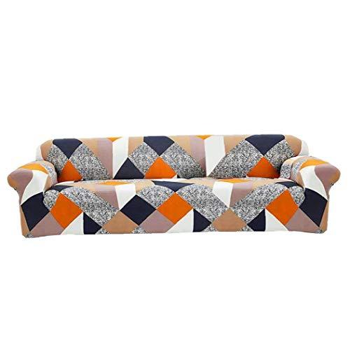Newin Star Sofa-Abdeckung, 4 seate Stretch Couch Abdeckung Anti-Blockier-System Elastic Couch Abdeckung für Wohnzimmer Sessel für Sofa Dekoration Schutz