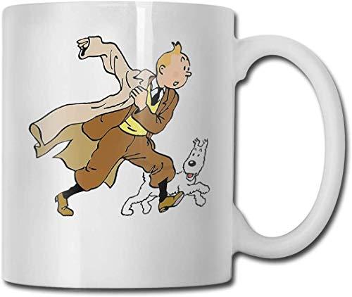 Tim und Struppi und Snowy lassen Plakat-lustigen Geschenk-Designer CUPS 11OZ gedruckte Entwurfs-lustige Kaffeetasse-T-Stück-Schale laufen