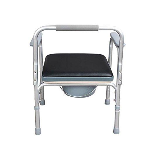 Ali Toilette chaise en alliage d'aluminium matériel femmes enceintes handicapées avec siège de toilette pliant 57 * (70-80) cm