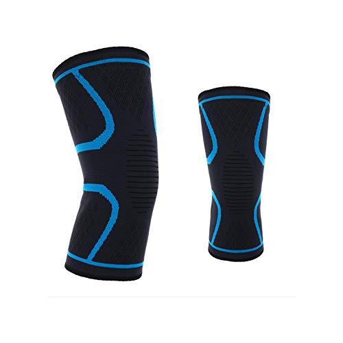 Chengn Dünnschliff Sport Knie Badminton Laufen Reiten Gas Silikon Rutschfeste Nylon-Strick-Basketball-Schutzausrüstung,Blue,S