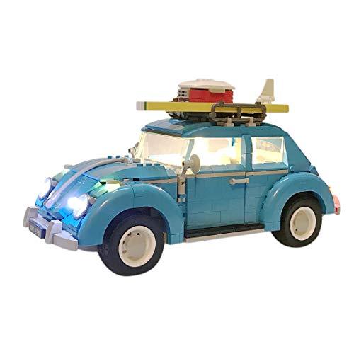 POXL Conjunto de Luces LED para (Creator Expert-Volkswagen Beetle) Modelo - Kit de Led Juego de Luces Compatible con Lego 10252(Lego Set No Incluido)
