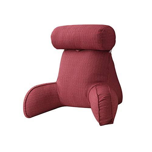 Xuanshengjia Cojín de lectura, gran cojín lumbar con reposabrazos, cojín de apoyo para la espalda extraíble, cojín de apoyo para el asiento para relajarse, jugar, leer, ver la televisión