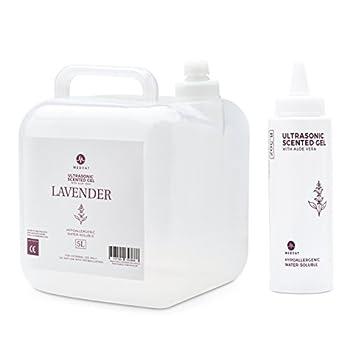 Medvat Clear Transmission Gel - Lavender Scented - 5 Liter Container - Includes 8-oz Refillable Bottle