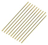 MMWW Brass Welding Brazing Rods Good Weldability Wear Resistant Excellent Fluidity for Alloy Materials Easy to Use -10 PCS