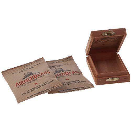 AirmenBeans Kaffee Pastillen Zedernholzbox 42er Set, Braun, DE10032