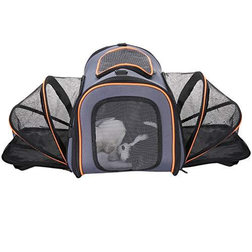 OCIA Erweiterbare Transportbox Hund Katze Transporttasche Faltbare Hundebox Katzentransportbox Katzen Transporttasche Reisetasche für Auto Flug