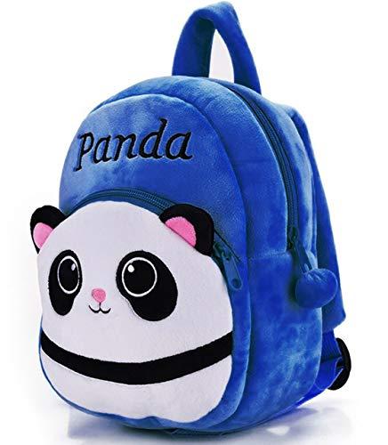DZert Panda Kids School Bag Soft Plush Backpacks Cartoon Baby Boy/Girl (2-5 Years) (Dark Blue)