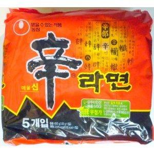 農心 辛ラーメン(韓国版) 5袋セット×8 40袋 業務用 大量箱買い