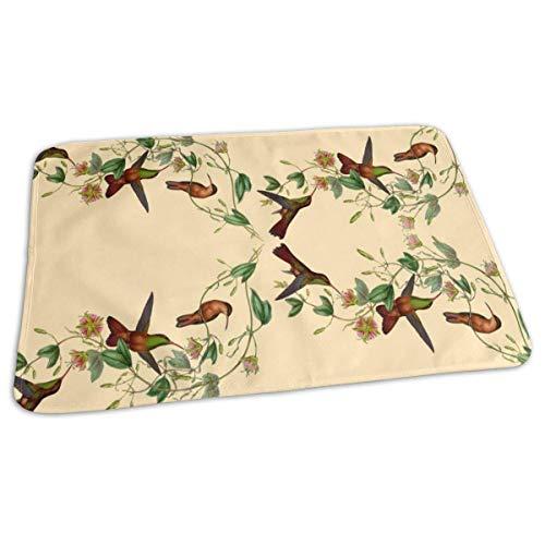 Kolibrie vogel baby herbruikbare veranderen pad cover draagbare reizen veranderen Mat 27.5x19.7 inch