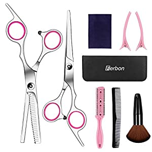 Beauty Shopping Sirabe 9 Pcs Hair Cutting Scissors Set Hairdressing Scissors Kit,Thinning Scissor,Neck