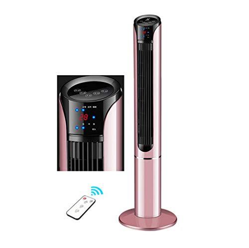 KEYUAN Oszillierender Turmventilator Mit Fernbedienung 3 Geschwindigkeiten + 3LüFtungs-Modi + Timer 45 Watt KlimageräT KüHlung Turmventilatoren,Rose-Gold,113cm/44.48in