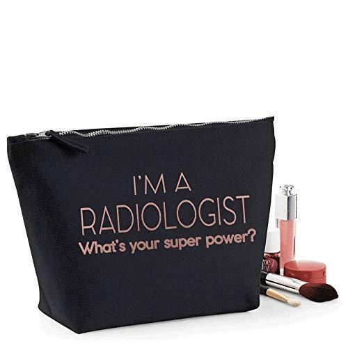 Radiologist Trousse de maquillage pour femme Imprimé rose jaune