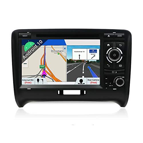 JOYX Android 10.0 Doppel Din Autoradio Passt für Audi TT 2006-2011 GPS Navigation | Rückfahrkamera Canbus KOSTENLOS | 2G+32G | 7 Inch | Unterstützung Dab+ Lenkradsteuerung 4G WiFi Carplay Bluetooth