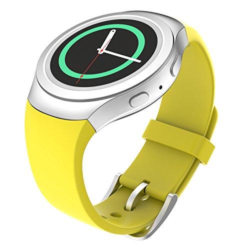 MoKo Samsung Watch Bracciale, Morbido Cinturino Sportivo di Ricambio in Silicone per Samsung Galaxy Gear S2 Smart Watch, Giallo (Non Adatto a Gear S2 Classic SM-7320 Versione)