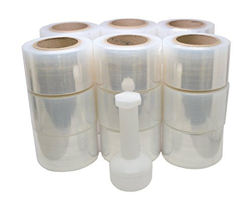 """TOTALPACK - 3""""x 1000 FT Roll -80 Gauge Thick + Hybrid technology with Dispenser, 18 Pack Stretch Moving & Packing Wrap. Industrial Strength, Clear Plastic Pallet Shrink Film Ideal For Furniture, Boxes"""