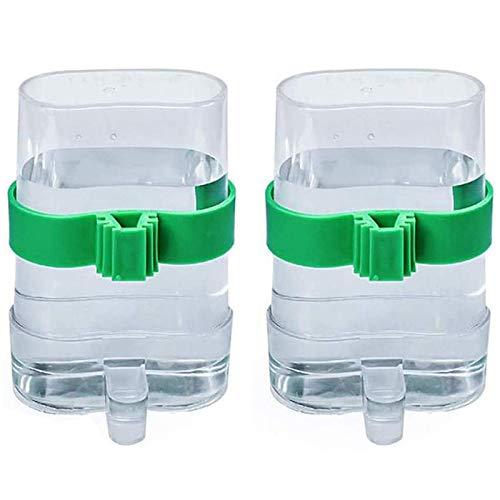 2 Piezas Pájaros Dispensadora de Agua Comedero Automático de Semillas para Pájaros Dispensador De...