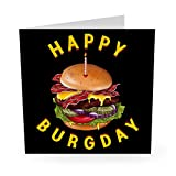Central 23 – Lustige Geburtstagskarte'Happy Burgday' für Männer und Frauen – Mama Papa Ehemann Frau Bruder Schwester Humor Witty Pun Banter 21. 30. 40.
