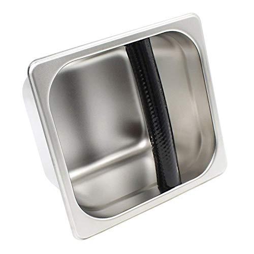 LHKJ roestvrijstalen koffieklopdoos, anti-roest gemakkelijk te reinigen voor professionele semi-automatische koffiemachine