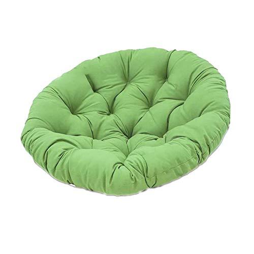 Almohada Colgante para, Silla Mecedora con Correa Fija Suave, Acolchado de algodón a Menudo para Colgar Forma de Hamaca marrón,Verde