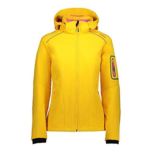 CMP Damen Softshelljacke Jacke, Gelb(Mango), 44 EU (Herstellergröße: 50)