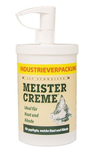 Meistercreme 1000 ml im großen Handspender, rein pflanzliche Hautcreme
