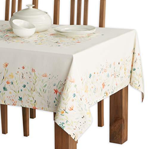 Maison d' Hermine Colmar 100% Baumwolle Tischdecke für Küche | Abendessen | Tischplatte | Dekoration Parteien | Hochzeiten | Frühling/Sommer (Rechteck, 140 cm x 180 cm).