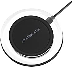 Wireless Charger, 10W Fast Wireless Charging Pad for Samsung Galaxy S9/S9+/Note 8/S8/S8 Plus/S7 Edge/S6 Edge+,5W Qi Charging Base Stand for iPhone XS Max/XR/XS/8/8 Plus,LG V30/G6,All Qi-Enabled Phones
