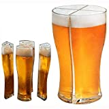 All 4 in 1 Materiale Plastico Acrilico Friends Party Holiday Birthday Drink Beer Mug, Super Schooner Glass per Christmas Party Beer Festival Birthday Party And More Grande 2 Pezzi