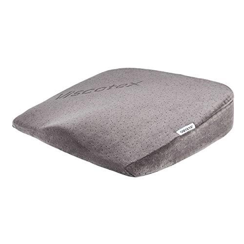 ONVAYA® Orthopädisches Sitzkissen zur Druckentlastung | Steißbeinkissen | Visco Kissen aus Memory Schaum | Druckentlastungskissen