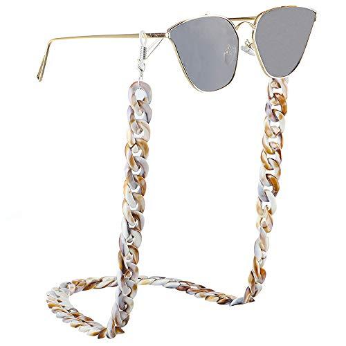 Wujiancheng -chain Collar de Gafas Sencilla Punk Estilo Vintage Resina acrílica Protección Ambiental de Vasos de plástico Cadena Unisex Diseño Vidrios Cadena para Mujeres (Color : Picture Color)