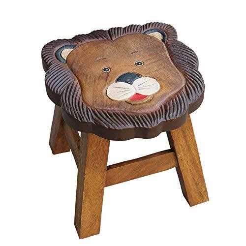 CYQ Taburete otomano para niños, Taburete de reposapiés de Animales de Dibujos Animados, Silla para niños Hecha a Mano con Proceso de Tallado Pintado, decoración, Toy-D