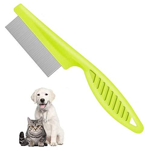 Flohkamm Läusekamm & Staubkamm für Katzen & Hunde Effektiv Gegen Flöhe & Läuse Profi Floh Kamm für Hund & Katze - Nissenkamm für Tiere - Ideal nach Flohshampoo (1 Stück)