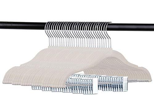 Tebery - Grucce in velluto per bambini, con clip, antiscivolo, 30 pezzi, colore: bianco sporco