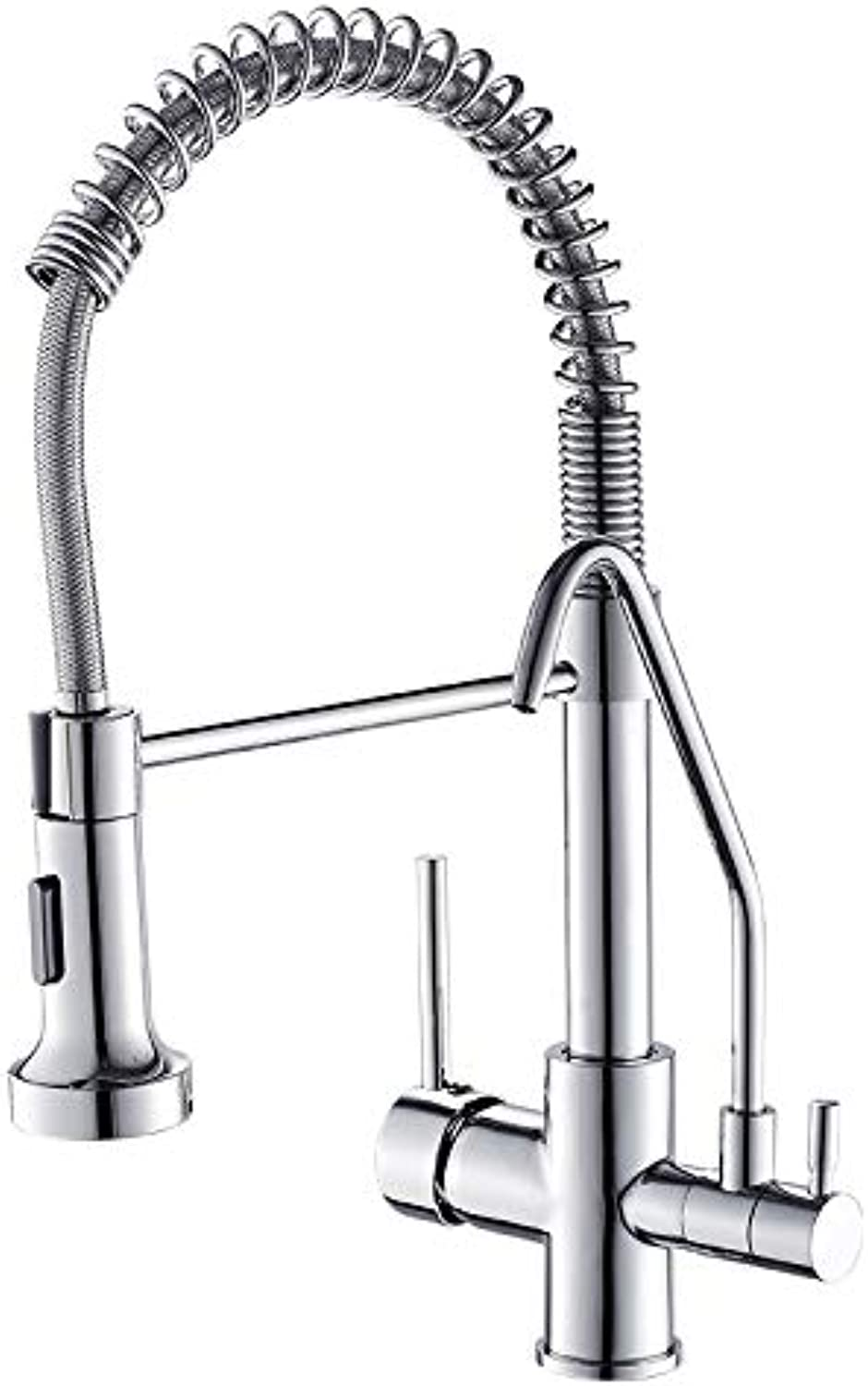 CZOOR Spring Style Kitchen Faucet Filter Water Faucet Pull Down redate Taps Swivel Multifunction Water Outlet Mixer Tap