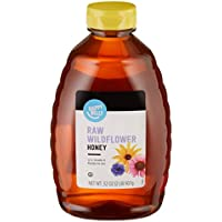 Amazon Brand Happy Belly Raw Wildflower Honey (32 oz)