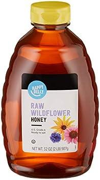 Amazon Brand Happy Belly Raw Wildflower Honey (32 oz)