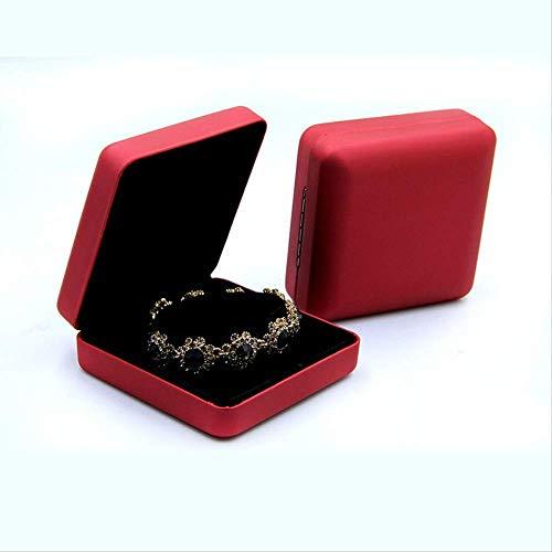 Manyao Storage Organiser Rack Hanging Jewelry Organizer Box Iron Leather Jewelry Box Bracelet Box Necklace Box (3Pcs)